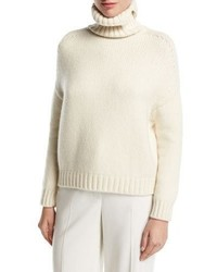 Loro Piana Cashmere Blend Turtleneck Pullover Sweater