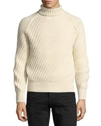 Tom Ford Cashmere Wool Basketweave Turtleneck Sweater