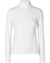 Calvin Klein 205W39nyc Embroidered Cotton Jersey Turtleneck Top