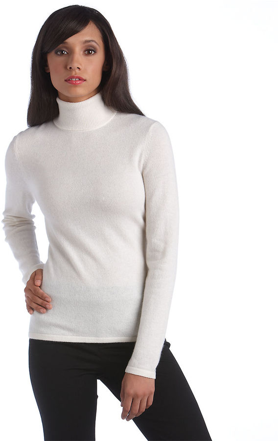 Lord & Taylor Fall Neutrals Collection Cashmere Turtleneck Sweater ...