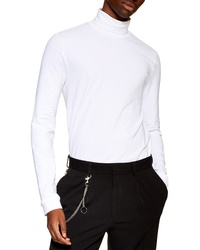 Topman Jersey Turtleneck Long Sleeve T Shirt