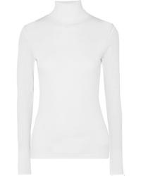 Ninety Percent Kaye Ribbed Organic Cotton Jersey Turtleneck Top
