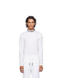 Fendi Off White Wool Tape Sweater