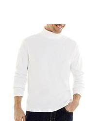 St. John's Bay Turtleneck Shirt White