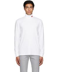 Hugo White Derollo Long Sleeve T Shirt