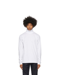 Acne Studios White Jersey Roll Turtleneck