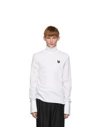 Alexander McQueen White Poplin Turtleneck