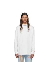 Heron Preston White Turtleneck Style Long Sleeve T Shirt