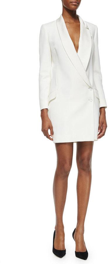 958b11a405c565 Haute Hippie Asymmetric Two Button Tuxedo Dress, $595 | Neiman ...