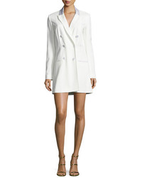 Veronica Beard Carlyle Double Breasted Mini Blazer Dress Off White