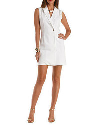 Charlotte Russe Sleeveless Wrap Blazer Dress