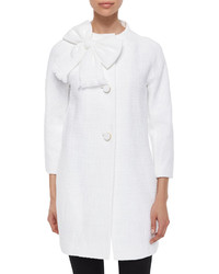 New york dorothy bow front tweed coat medium 204086
