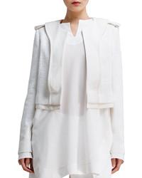 Chloé Chloe Shimmery Tweed Jacket Cream
