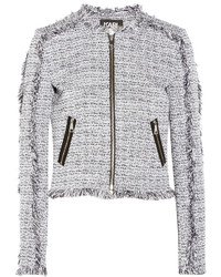 Karl Lagerfeld Karl Little Cotton Blend Tweed Jacket White