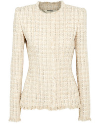 Metallic tweed jacket ivory medium 5172923