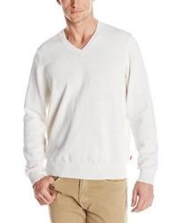 Izod Cane Bay 9 Gg Slub V Neck Sweater