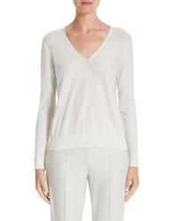 Akris Cashmere Silk Blend Metallic Sweater