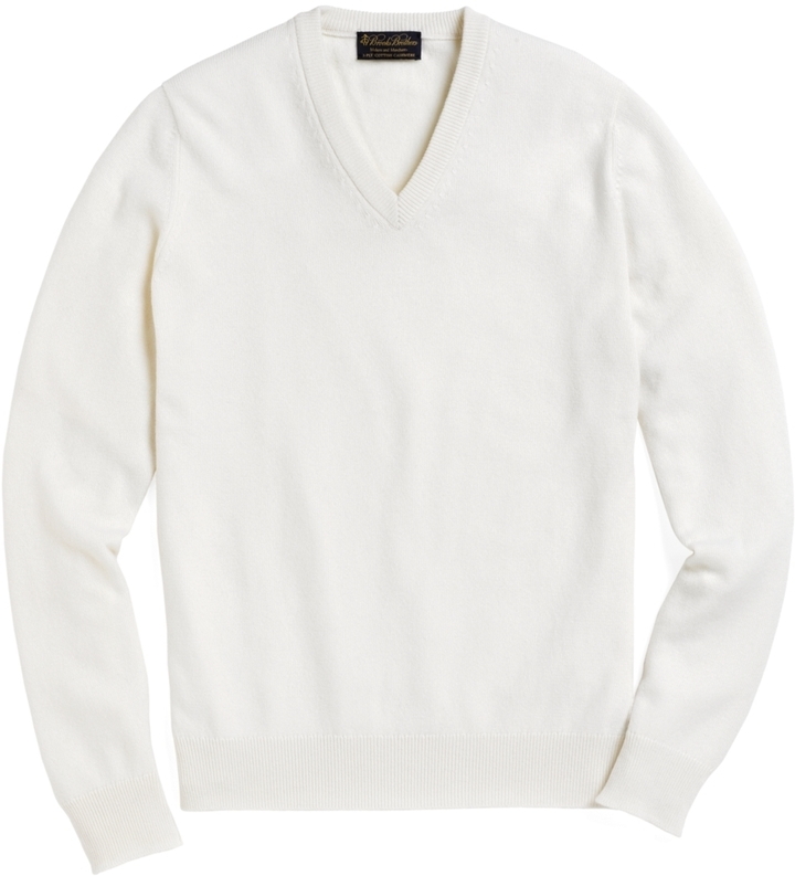 ddf627dd2afab9 Brooks Brothers Cashmere V Neck Sweater, $468 | Brooks Brothers ...