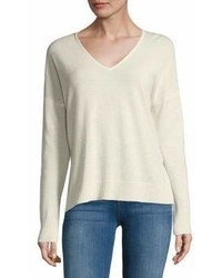Leo & Sage Double V Neck Cashmere Sweater