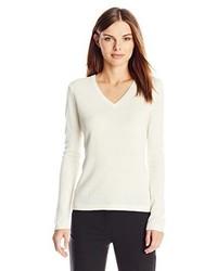 Lark Ro 100% Cashmere Slim Fit V Neck Sweater