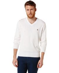 Original Penguin Pima Cotton V Neck Sweater