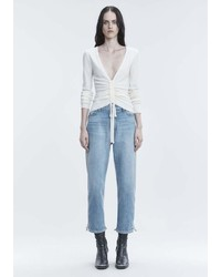 Alexander Wang Ruched V Neck Sweater Top
