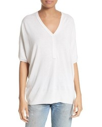 ATM Anthony Thomas Melillo Silk Blend Batwing Henley Sweater