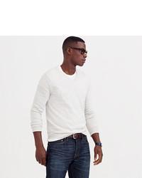 Slim cotton cashmere v neck sweater medium 328577