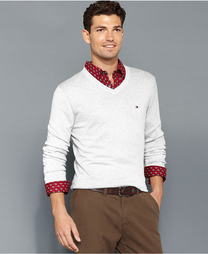 a5a60e6c81f631 Tommy Hilfiger Sweater American V Neck Sweater, $49 | Macy's ...