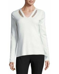 Elie Tahari V Neck Sweater