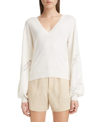 Chloé V Neck Sweater