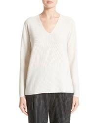 Fabiana Filippi Wool Silk Cashmere Micro Popcorn Stitch Sweater