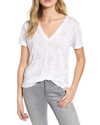 Rails Cara V Neck Slub Knit Tee