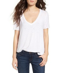 Ten Sixty Sherman Holey V Neck Tee