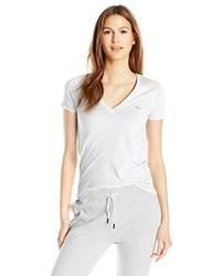 Lacoste Short Sleeve Cotton Jersey V Neck T Shirt