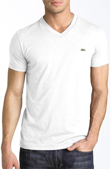 630a122595 V Neck Pima Cotton T Shirt White 4xlt