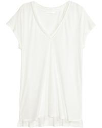 H&M Linen Blend T Shirt