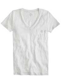 889ce357d5f3c0 Women's White V-neck T-shirts from J.Crew | Women's Fashion ...