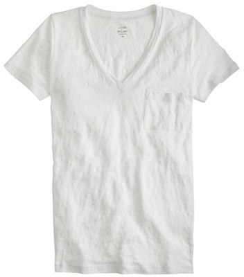 036671fbec ... J.Crew Linen V Neck Pocket T Shirt ...