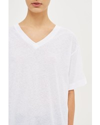 Boutique Linen V Neck T Shirt