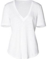 A.L.C. Linen V Neck T Shirt