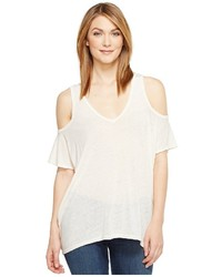 Michael Stars Michl Stars Hemp Jersey V Neck Cold Shoulder Tee T Shirt