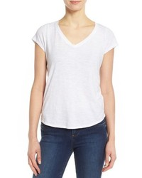 Eileen Fisher Organic Cotton V Neck Short Sleeve Tee