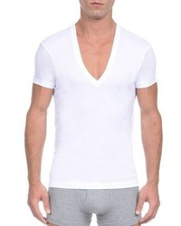 2xist Pima Slim Fit Deep V Neck T Shirt