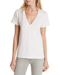 rag & bone/JEAN Rag Bone Reily Deep V Neck Cotton Blend Tee