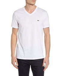 Lacoste Regular Fit V Neck T Shirt