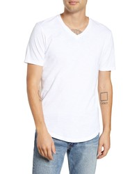 Goodlife Scallop Slub V Neck T Shirt