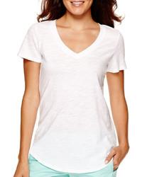 Stylus Stylus Short Sleeve Slub V Neck T Shirt Tall