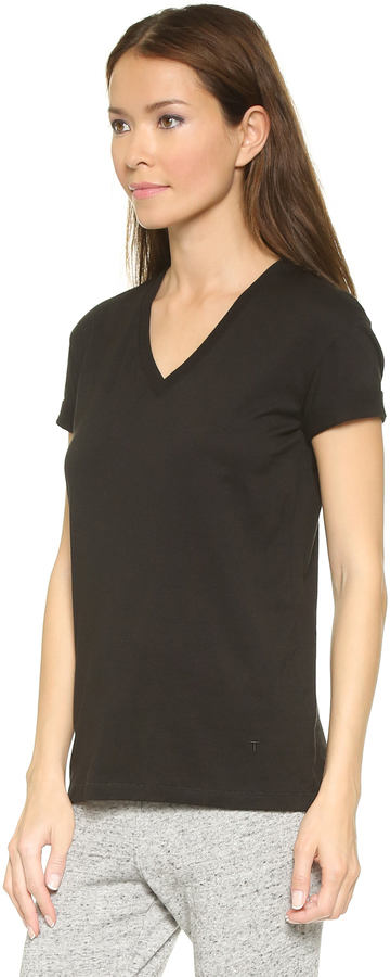 e116e8990c5c Alexander Wang T By Superfine V Neck Tee, $120 | shopbop.com | Lookastic.com