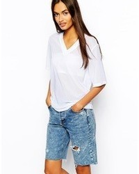 Asos T Shirt In Mesh With V Neck